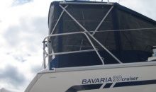 Bavaria 39 Dodger Bimini Custom Solar Panel Bracket Enclosure