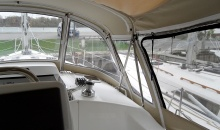 Hunter 38 Dodger Bimini Enclosure
