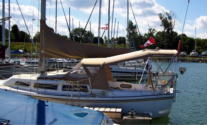 Catalina 27 Dodger Bimini Gallery - Sportech Sails - Custom