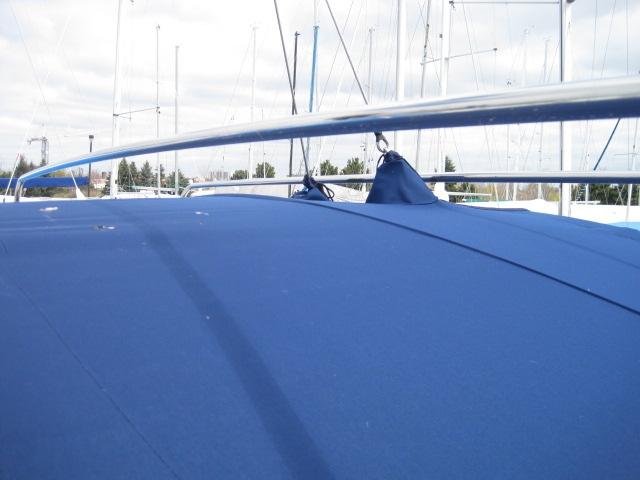 Bavaria 39 Dodger Bimini Custom Solar Panel Bracket Enclosure