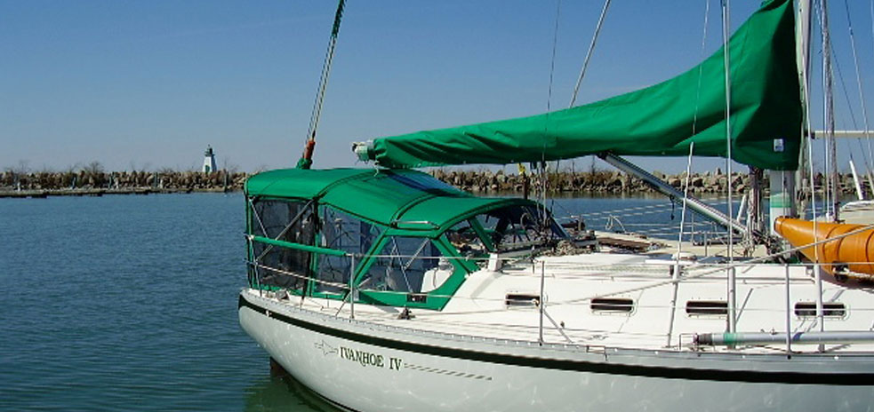 Boat with a Green Happy Pac
